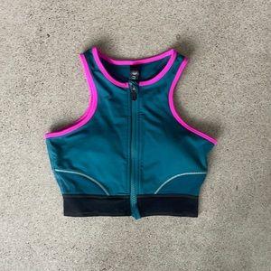 MPG Zip-front sports bra